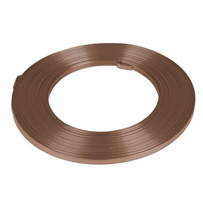 <h4>Aluminum wire flat - 5mmx10m brown</h4>