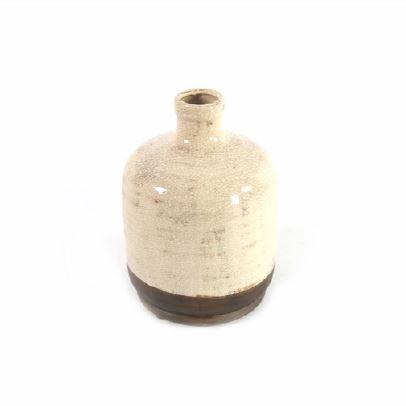 <h4>DF883822100 - Vase Roark cream 25cm</h4>