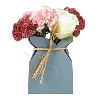 <h4>Giftbox  karton 14x14xH18cm chic blauw</h4>