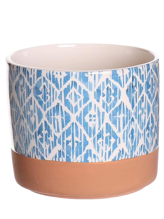 <h4>DF530321947 - Pot Dows d13.2xh11.1 blue/white</h4>