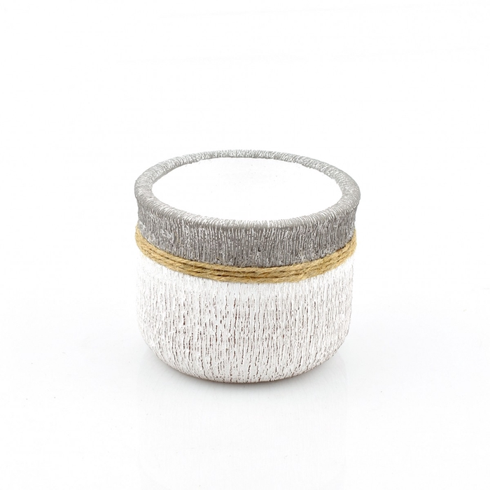 <h4>Keramiek Cement+touw pot d11.5*9cm</h4>