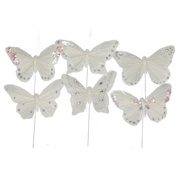 <h4>Voorjaar Vlinder/draad  9cm ass.</h4>