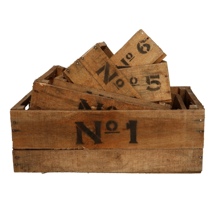 <h4>Hout Kist No.1-6 S/6 d50*32*20cm</h4>
