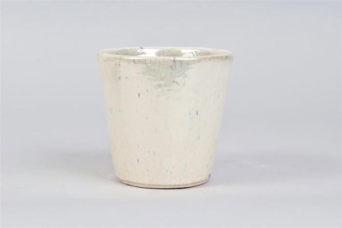 <h4>Alicante Cream Pearl Pot 15x14cm</h4>