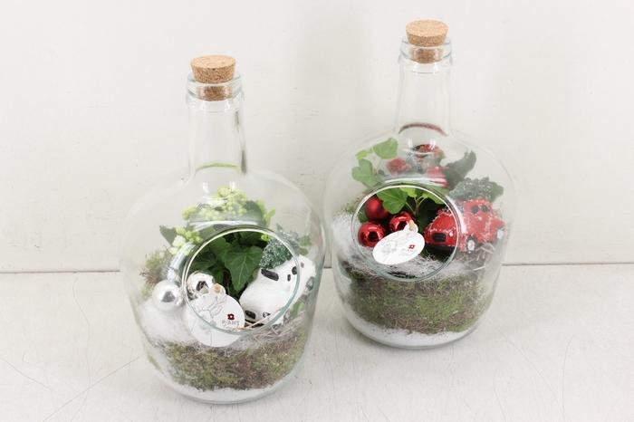 arr. PL - Fles met kurk - rood/wit