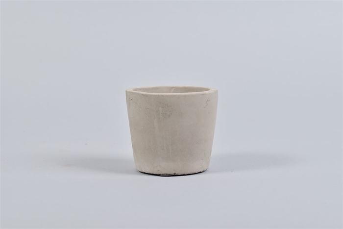 <h4>Beton Pot Rond Grijs 8x7cm</h4>