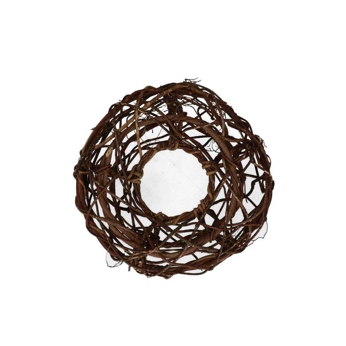 <h4>Wreath d24cm Woven open</h4>