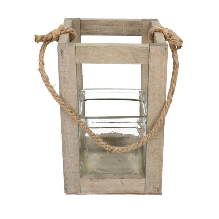 <h4>Lantaarn Frame hout+1bak 13*20cm</h4>
