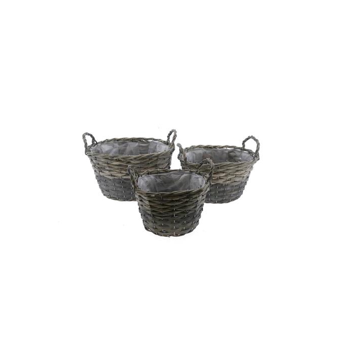 <h4>Basket Willow S/3  33x26x19cm</h4>