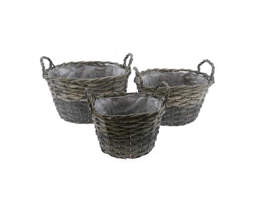 <h4>Basket Willow S/3  33x26x19cm</h4>