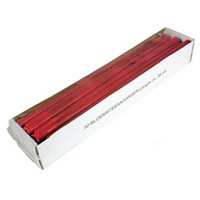 <h4>Kaars bloemensteek 14x380mm  rood  - doos 30st</h4>