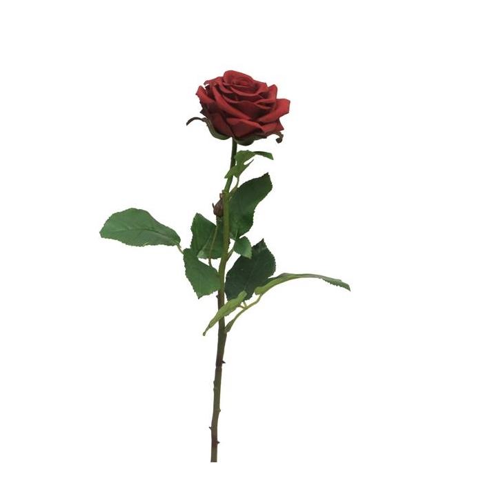 <h4>SILK FLOWERS - ROSA BROCELIANDE RED 65CM</h4>