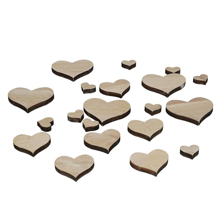 <h4>Valentijn Hart hout d2.5-7cm x18</h4>