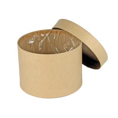 <h4>Carton à chapeau Ø14xH10cm brun</h4>