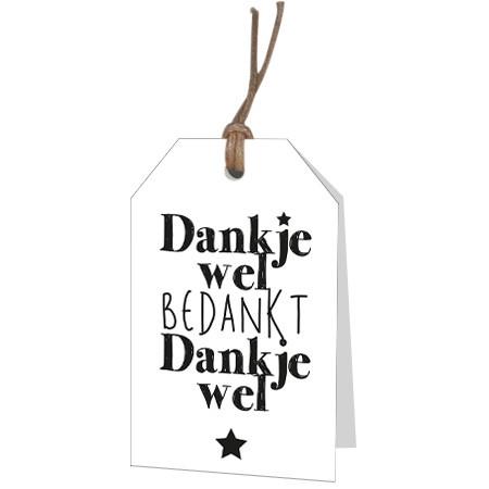 <h4>Labels Displ.Card NL Dank 5*8cm x12</h4>