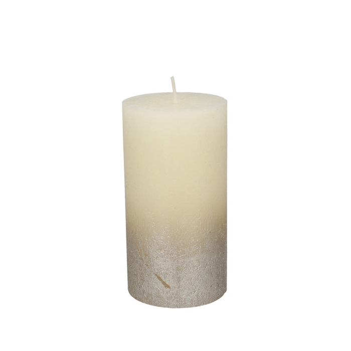 <h4>Candle Cylinder Rustic metallic d07*13cm</h4>