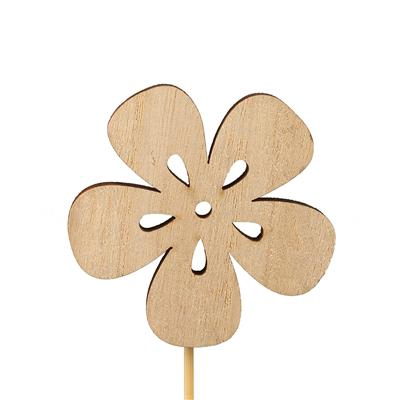 <h4>Bijsteker bloem nature hout 7x7cm+12cm stok</h4>