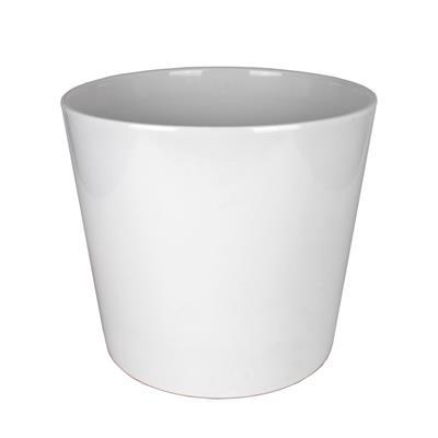 <h4>Pot Dallas Céramique Ø24xH24cm blanc brilliant</h4>