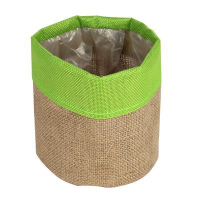 <h4>Pot facile jute Ø13xH13cm vert</h4>
