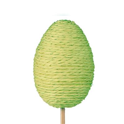 <h4>Bijsteker Eggrope 6x4,5cm+12cm stok groen</h4>