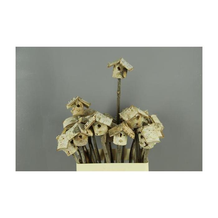 <h4>Stick Birch Birdhouse 7x5cm</h4>