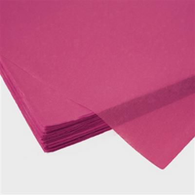 <h4>Papier vel: 50x75cm zijde 480 vellen 17gr cerise *</h4>