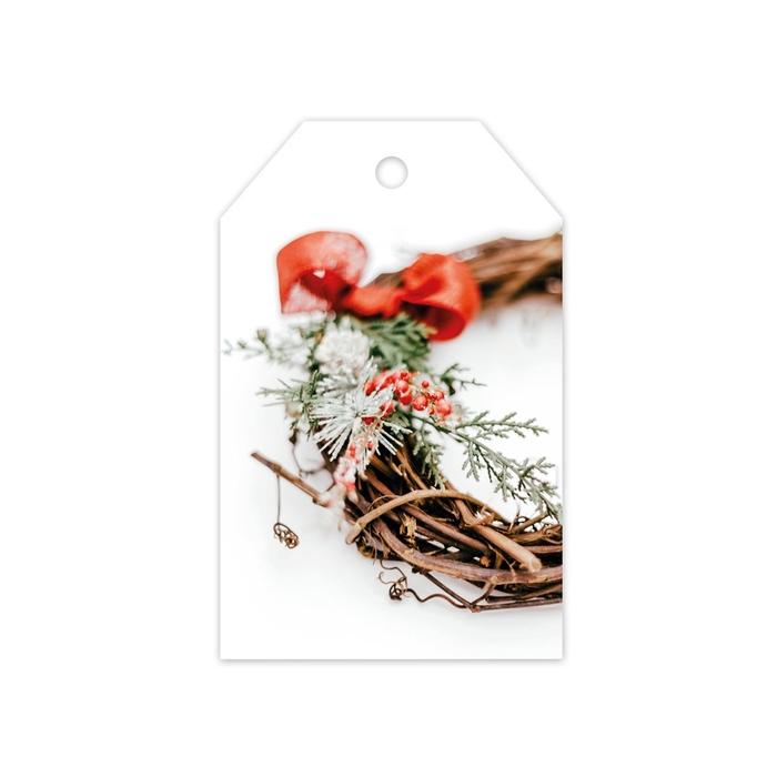 <h4>Christmas Displ.Card GB Wreath 5*8cm x20</h4>