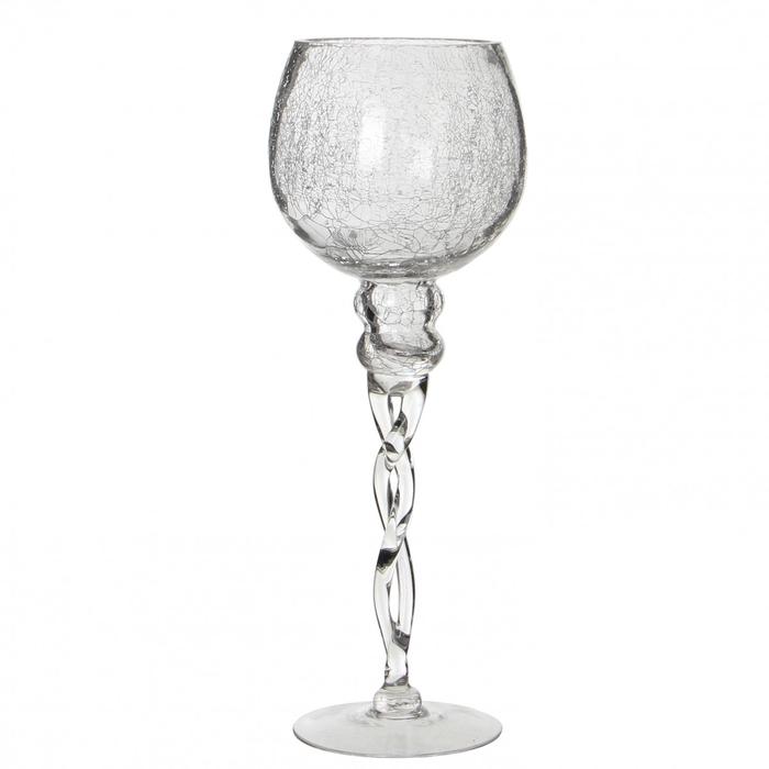 <h4>Glas Coupe crackle d13*35cm</h4>