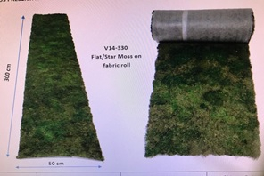 Platmos op rol fabric 50x300cm