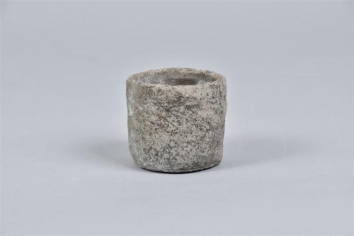 <h4>Iron Stone Grijs Pot 9x8cm</h4>