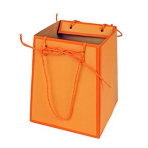 Bag Easy carton 12/12x15/15xH18cm orange