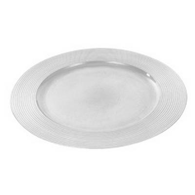 <h4>Asiette plate ronde en plastique ø33cm blanc</h4>