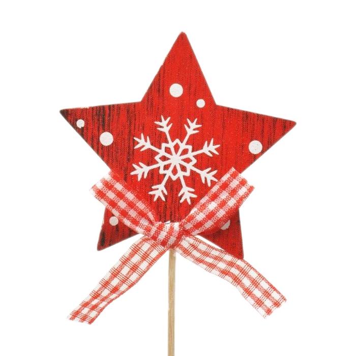 <h4>Christmas sticks 10cm Star wood 7cm</h4>