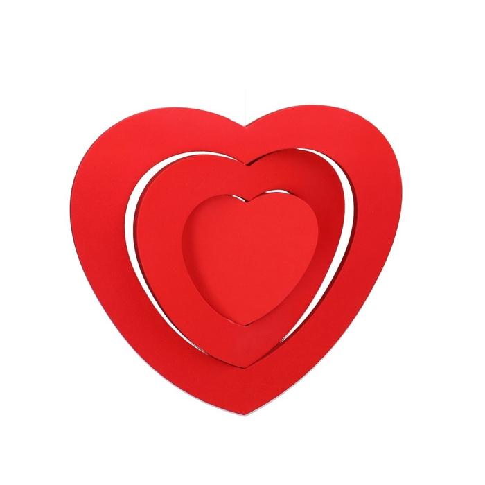 <h4>Liefde Hanger hart 3D 30cm</h4>