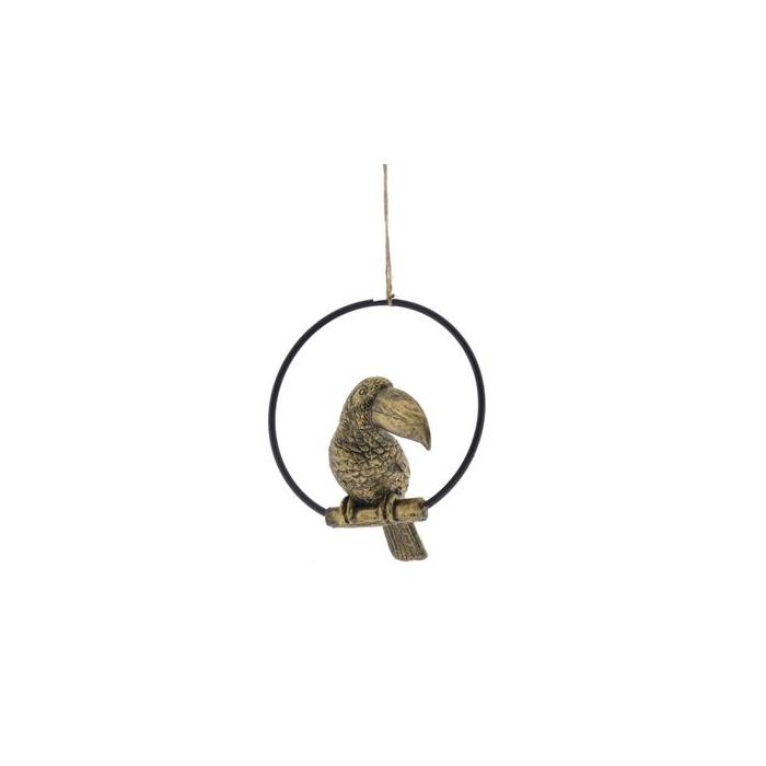 <h4>Fig. Tucan Hang 16cm Gold</h4>