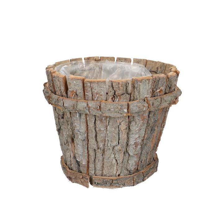 <h4>Manden Bark pot rond d22*18cm</h4>
