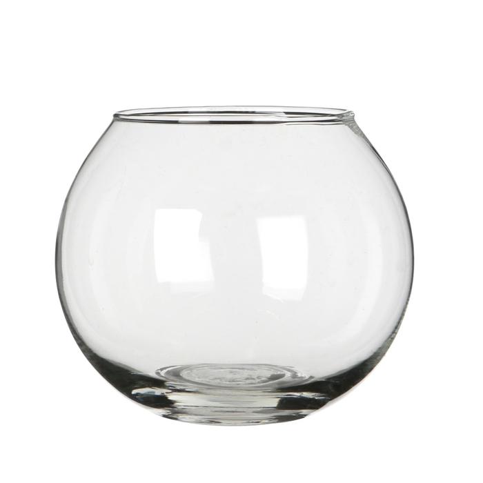 <h4>Glas Kogelvaas d24/13*20cm</h4>