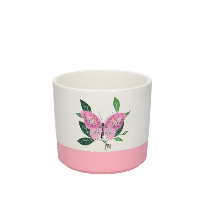 <h4>Keramiek Pot vlinder d13*11.5cm</h4>