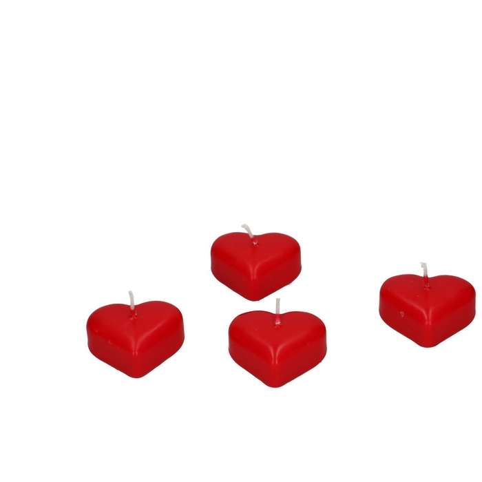 <h4>Candle Floating Heart d5*4cm x15</h4>