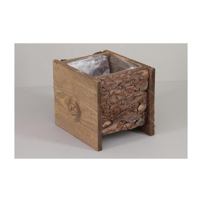 <h4>Planter Pine Bark 12x12cm/h12</h4>