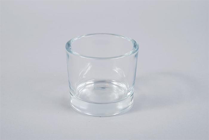 <h4>Glas Pot Cilinder Zwaar 9x8cm</h4>