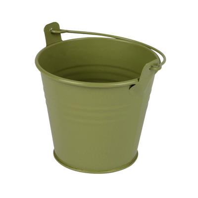<h4>Bucket Sevilla zinc Ø8,2xH7,2cm - ES7 green matt</h4>