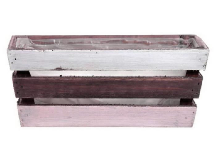 <h4>DF500084700 - Planter Nikole3 22x12x9 pink/white</h4>