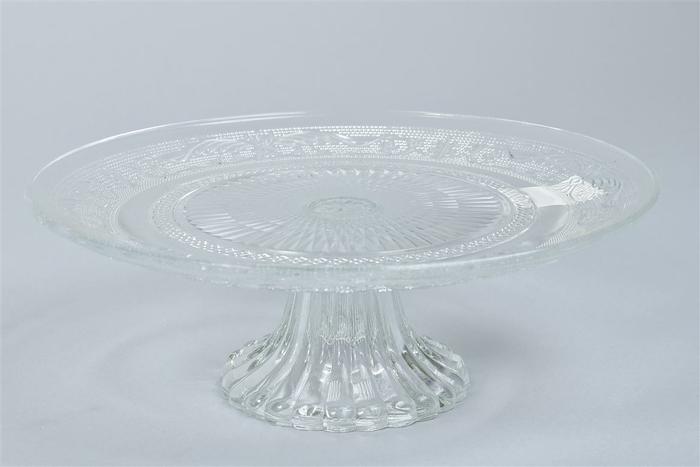 <h4>Glas Schaal Taart Op Voet 25x9cm</h4>
