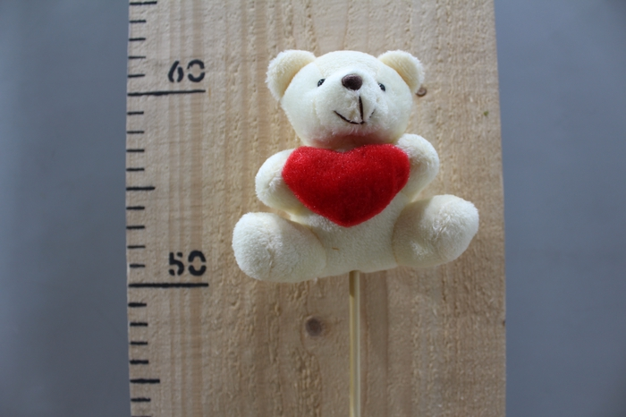 <h4>PLUSH BEAR CREAM WHIT HEART O/S H50 12PCS 260.5838</h4>