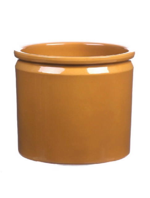 <h4>DF885092947 - Pot Lucca d14xh12.5 curry glaze</h4>