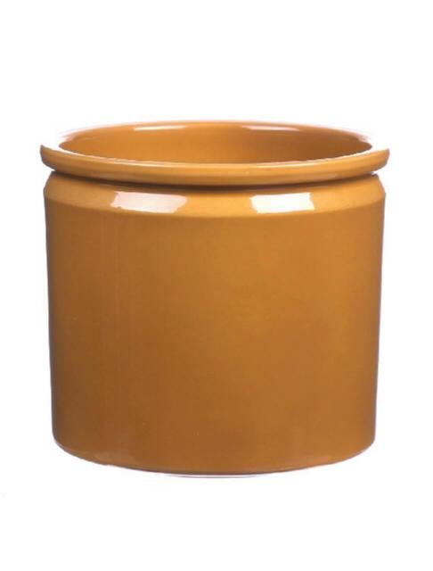 <h4>DF885092947 - Pot Lucca d14xh12.5 curry glaze</h4>