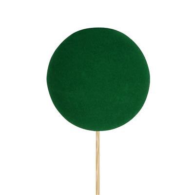 <h4>Pique boule de Noël velours Ø6cm+12cm bâton vert</h4>