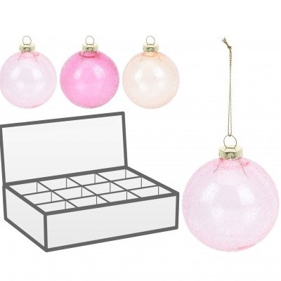 <h4>Christmas bauble Ball deco 80mm ass</h4>