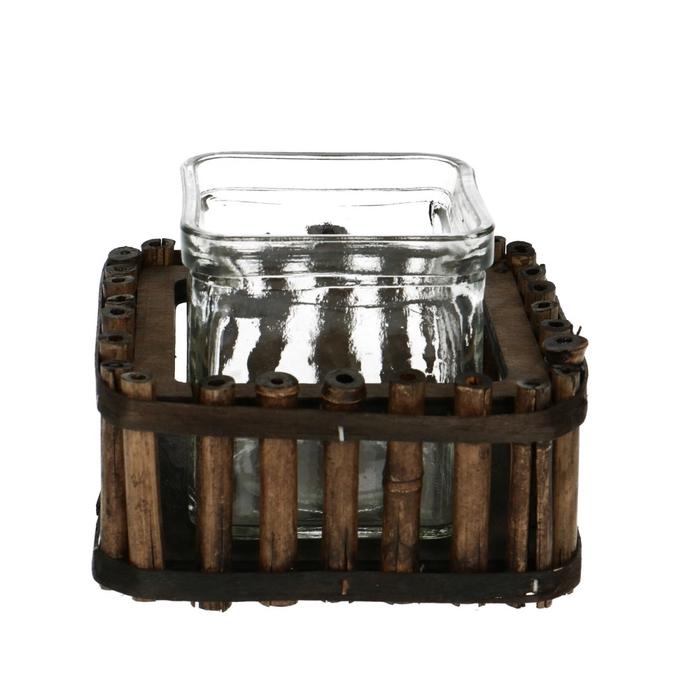 <h4>Glas Bak bamboo+1accubak 12*12*9cm</h4>